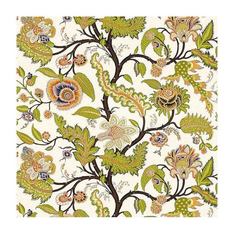 Schumacher Martyn Lawrence Bullard Sinhala Sidewall Floral Bittersweet Wallpaper