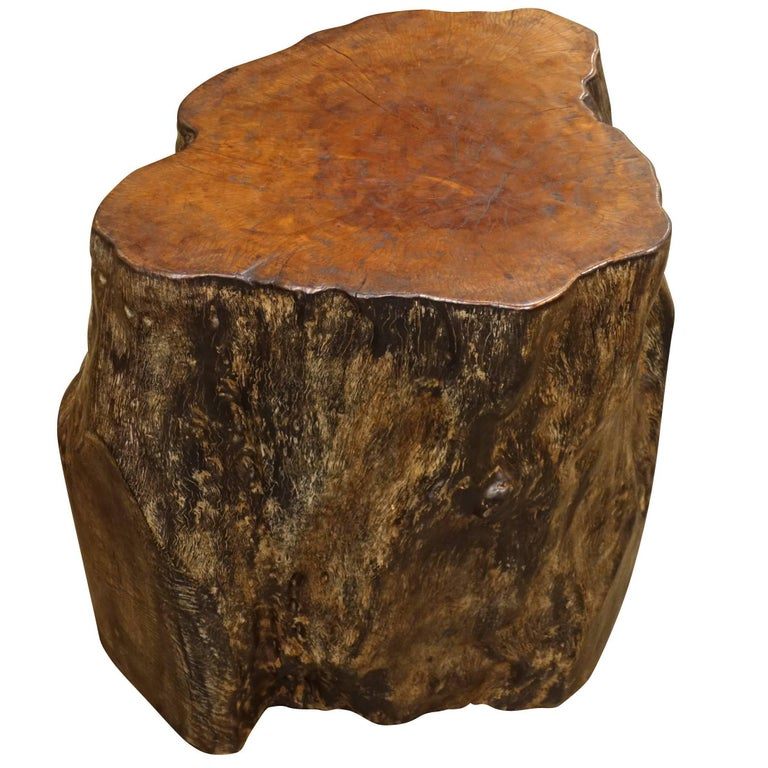 Lychee Wood Side Table, Indonesian, Contemporary