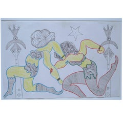 Lewis Smith Drawing of Athletic Dancers