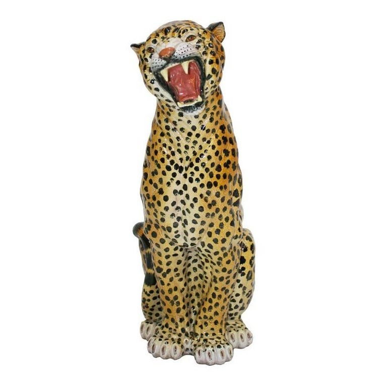 French Leopard Sculpture For Sale