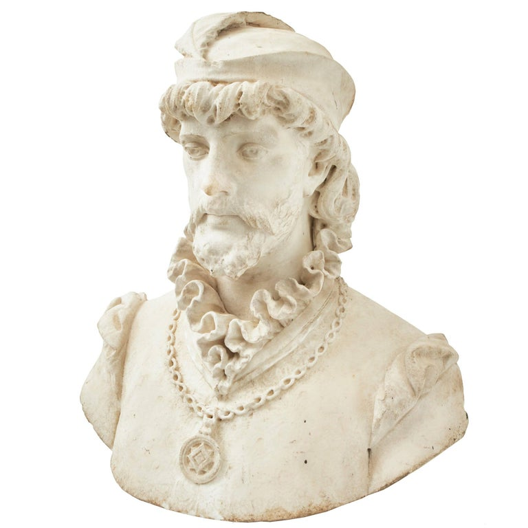 Italian Marble Bust of a Renaissance Prince, circa 1850
