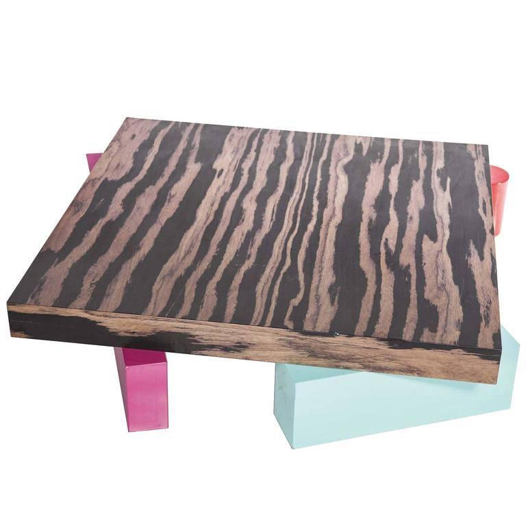 Ettore Sottsass, Coffee Table in Laminated Wood, Alessi, Italy, circa 1990