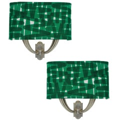 Pair of Italian Sconces with Shades