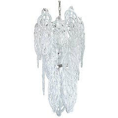 Mazzega Chandelier with Drizzled Glass, 1970s