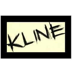 Vintage Franz Kline exhibition announcement