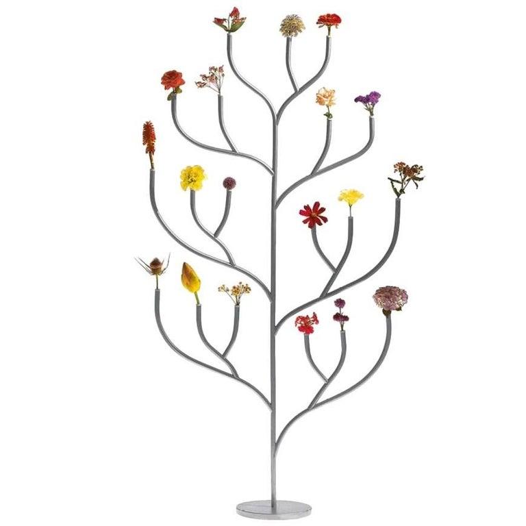 """""""Hanahana"""" Polished Steel Flower Stand Designed by Kazuyo Sejima for Driade"""