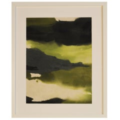 Unique Handmade Contemporary Framed Abstract Painting on Paper with Acrylic Ink