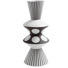 Palm Springs Bow Tie Stoneware Vase