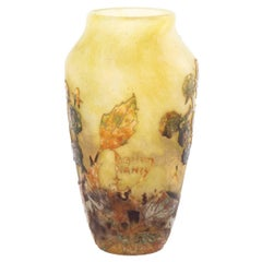 Daum Nancy Cameo Glass Vase, circa 1910s