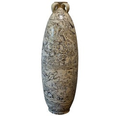 Brown and Cream Swirl Pattern Vase, China, Contemporary