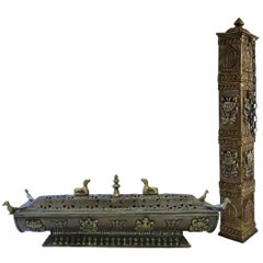 Tibetan/Chinese Incense Burner and Holder
