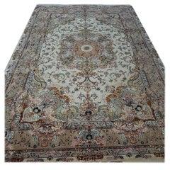 Shadegaan, Hand-Knotted, Rare Design Persian/Tabriz Rug