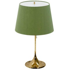 Bergbom B-024 Table Lamp with Green Shade, 1960s
