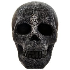 Cadavre Exquis Mini Shagreen Skull by Christina Z Antonio