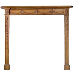 18th Century Pine and Gesso Mantel, 'GEO-W71'