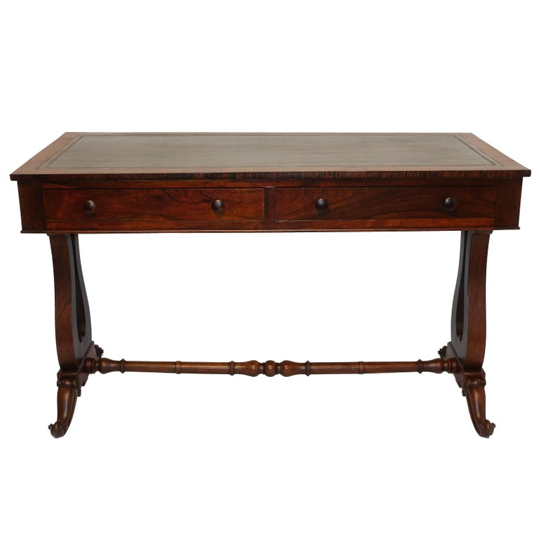 Regency Rosewood Sofa Table or Gentleman's Desk, English 19th Century 1