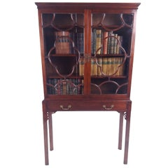 George III Mahogany Two-Door Astragal Glazed Bookcase