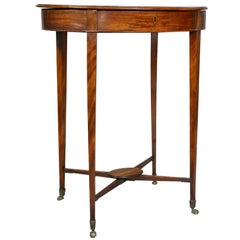 George III Mahogany Work or End Table