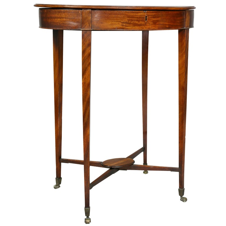 George III Mahogany Work or End Table 1