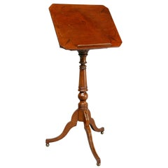 Regency Mahogany and Ebony Inlaid Music Stand