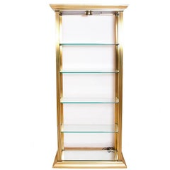 Neoclassical Brass and Glass Etagere