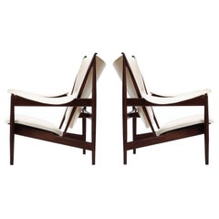 Pair of Finn Juhl Chieftain Lounge Chairs