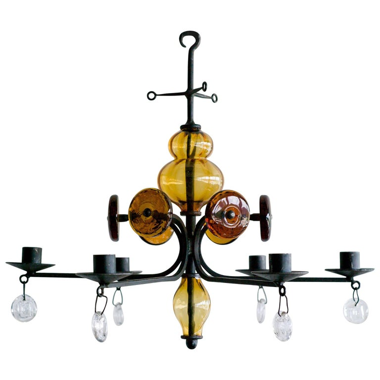 Candelabrum by Erik Hoglund for Boda Glasbruk
