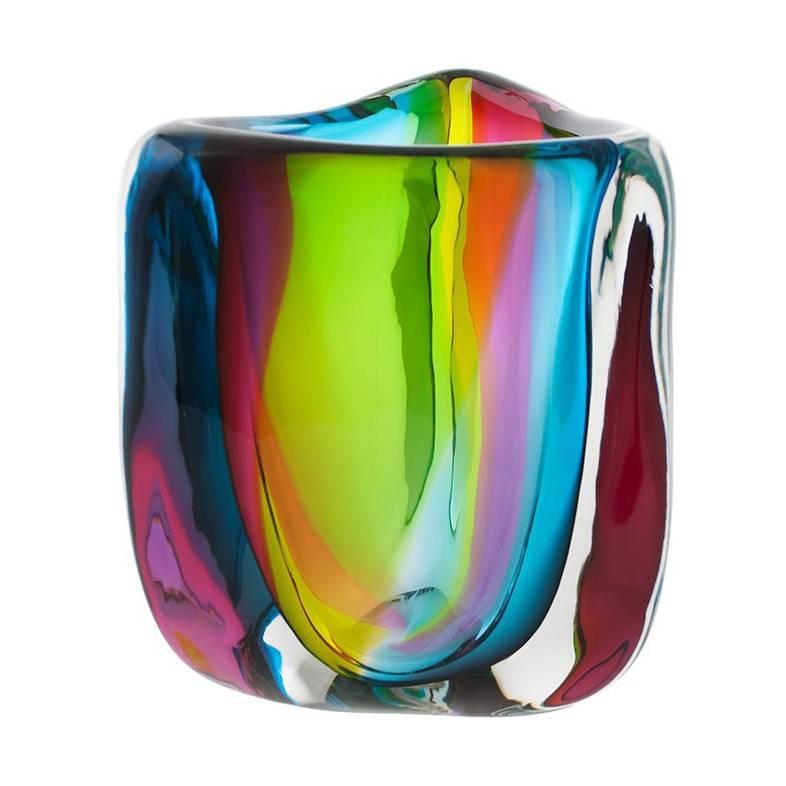 Chroma Glacier Low Triangle Vase by Siemon & Salazar