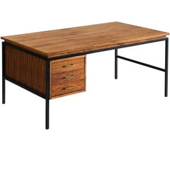 Danish Desk in Rosewood and Black Steel Frame