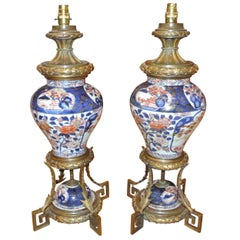 Pair of 18th Century Imari Vase Lamps