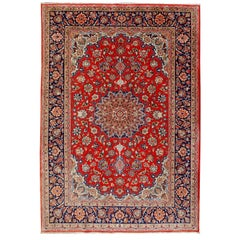 Isfahan Persian Wool and Silk Rug