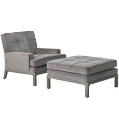 Tommi Parzinger Lounge Chair and Ottoman