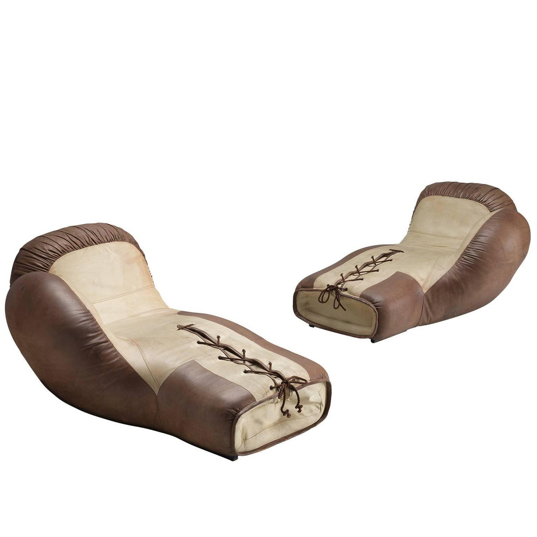 De Sede Boxing Gloves Lounge Chairs, circa 1975