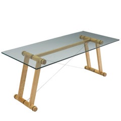 Superstudio 'Teso' Dining Table in Wood and Glass