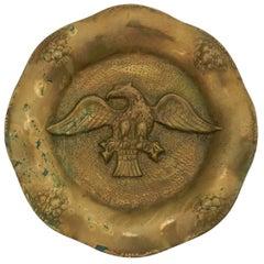 Gilt Bronze Eagle Wall Plaque Ormolu Relie, circa 1890-1900