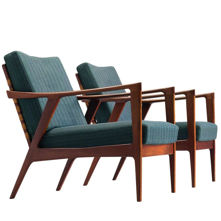 Danish Reclining Upholstered Easy Chairs 1950s At 1stdibs