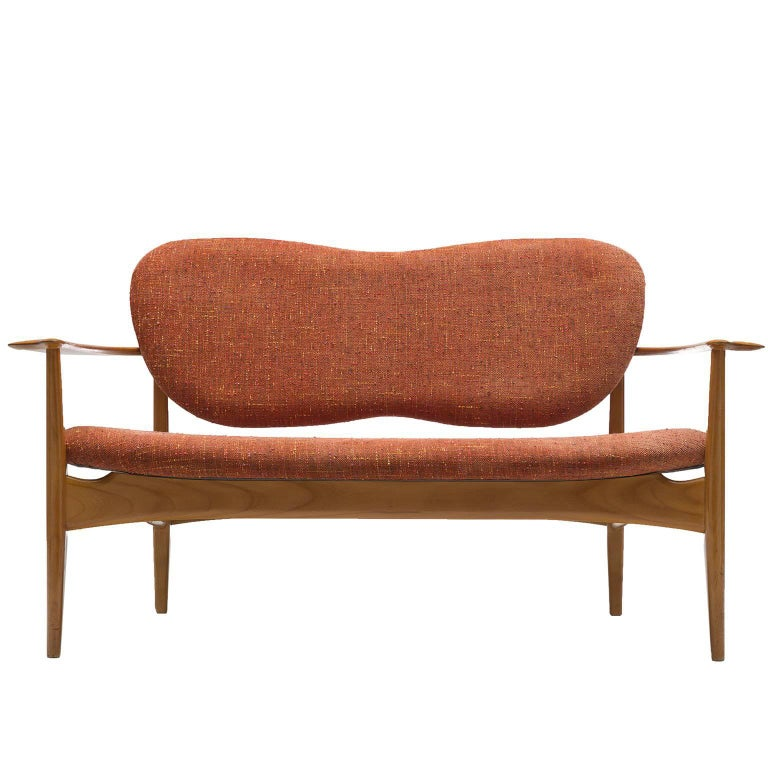 Danish Settee with Wing-Shaped Back