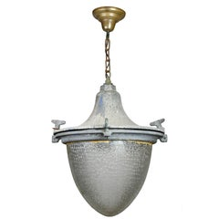 General Electric Exterior Aluminum Pendant with Textured Glass