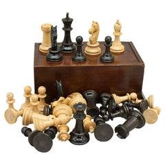 Boxwood and Ebony Chess Set