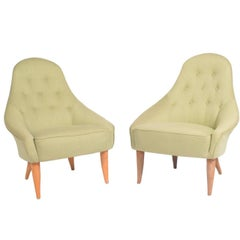 "Pair of ""Eva"" Easy Chairs by Kerstin Hörlin-Holmquist for NK"