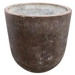 French Stone Slag Pot, circa 1950