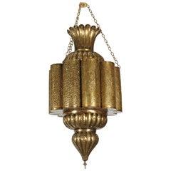 Moorish Moroccan Brass Chandelier