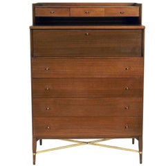 Tall Chest of Drawers by Paul McCobb with Integrated Jewelry Chest
