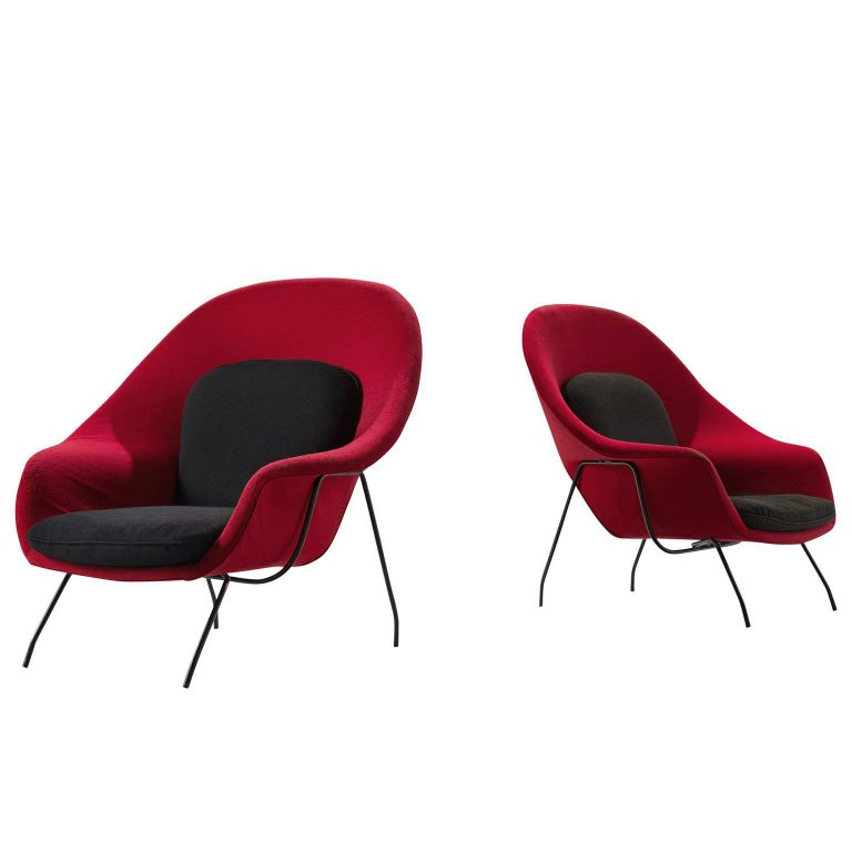 Pair of Womb Chairs by Eero Saarinen for Knoll