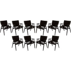 Set of Ten Mid-Century Modern Danish Dining Chairs