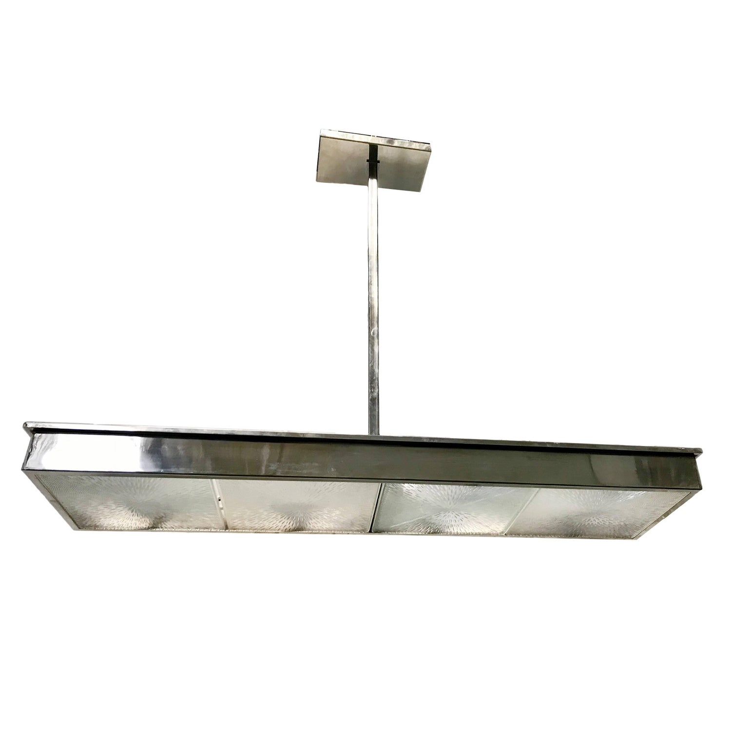 Nickel plated long light fixture for sale at 1stdibs arubaitofo Image collections