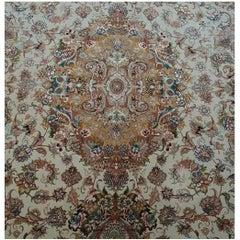 Novinfar Pink-Designer Master Novinfar, Genuine Persian Tabriz Silk and Wool Rug