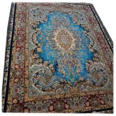 Moj Meher Novinfar Abi, Novinfar Design High Silk Content Persian Tabriz Rug