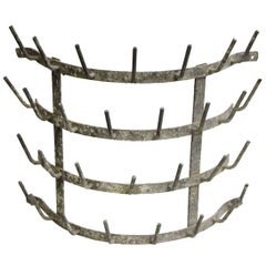 1950s French Vintage Steel Hedgehog Rack with 30 Pegs
