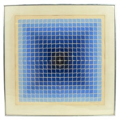 Colorful Geometric Lithograph by Victor Vasarely Signed and Numbered